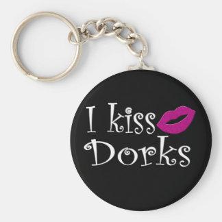 I Kiss Dorks Keychains