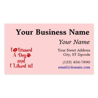 I Kissed A Dog Double-Sided Standard Business Cards (Pack Of 100)