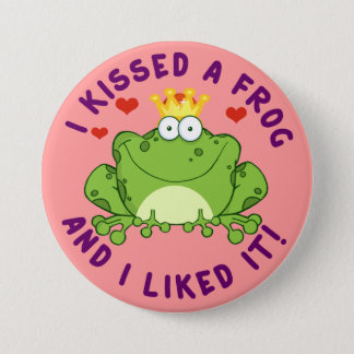 I Kissed a Frog on Valentine's Day 7.5 Cm Round Badge