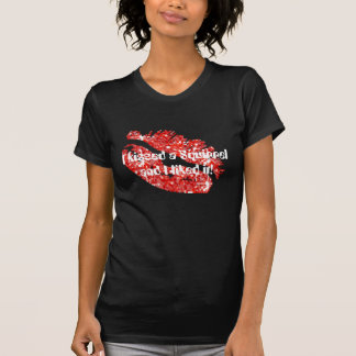 I kissed a Squirrel and I liked it! - Red/Black T-Shirt