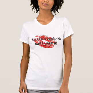 I kissed a squirrel and I liked it! - White/Red T-Shirt