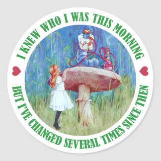 I KNEW HOW I WAS THIS MORNING BUT I VE CHANGED ROUND STICKER