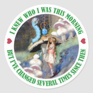 I KNEW WHO I WAS THIS MORNING BUT I VE CHANGED ROUND STICKER