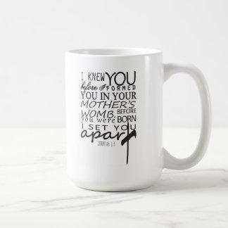 I knew You...I set you apart Basic White Mug
