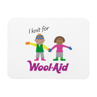 I Knit for Wool-Aid flexible magnet