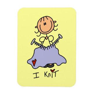 I Knit Vinyl Magnets