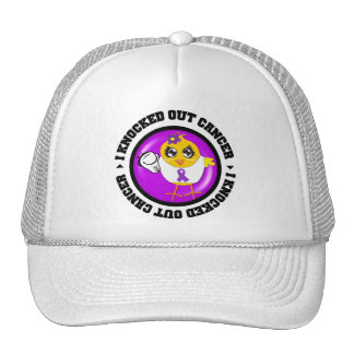 I Knocked Out Cancer (Leiomyosarcoma) Trucker Hats