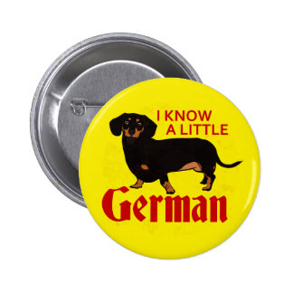 I Know A Little German 6 Cm Round Badge