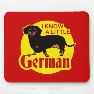I Know A Little German Mouse Mat