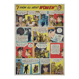 I Know ALL About Women! WWII STI Warning Poster