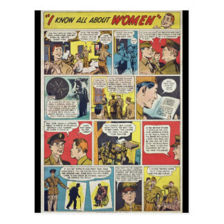 I Know ALL About Women! WWII STI Warning Poster Postcard