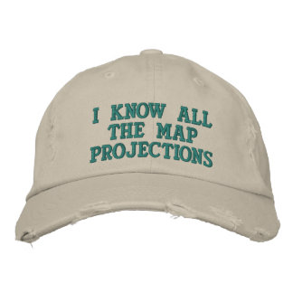 I know all the map projections embroidered hat