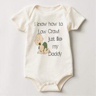 I know how to low crawl just like my daddy baby bodysuit