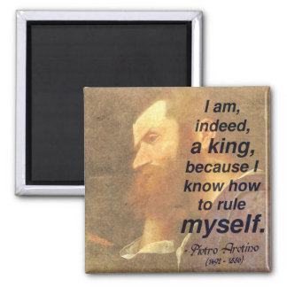 '...I know how to rule myself' Self-discipline Magnet