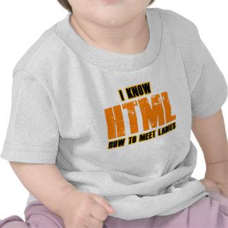 I know HTML - How to Meet Ladies Tshirts