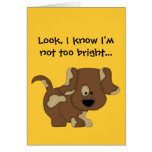 I know I'm not too bright!-Apology/Cute Dog