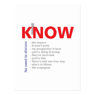 I Know It All Postcards
