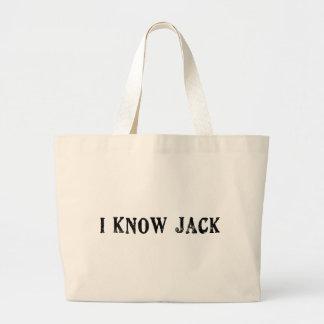 I Know Jack Large Tote Bag