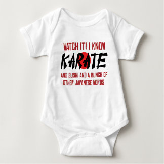 I Know Karate! And Sushi And Other Japanese Words Baby Bodysuit
