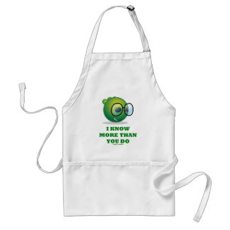I Know More Than You Do (Green Alien Expression) Standard Apron
