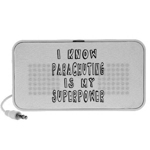 I Know Parachuting Is My Superpower iPod Speaker