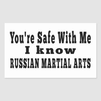 I know Russian Martial Arts Rectangular Stickers