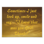 I know that was you god christian quote poster
