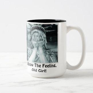 I Know The Feeling, Old Girl! Two-Tone Mug