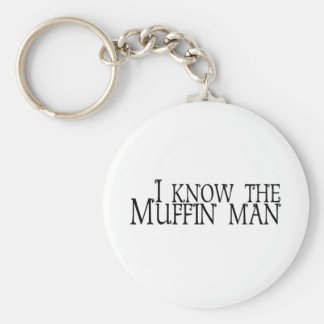 I Know The Muffin Man Key Ring