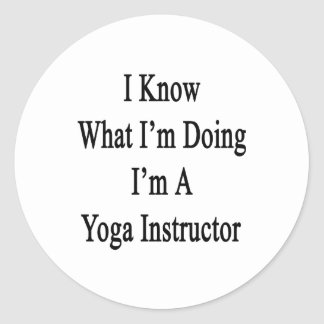 I Know What I'm Doing I'm A Yoga Instructor Round Stickers