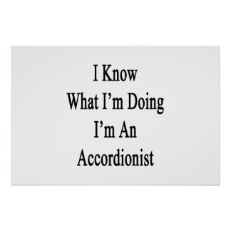 I Know What I'm Doing I'm An Accordionist Posters