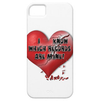 I know which records are mine! barely there iPhone 5 case