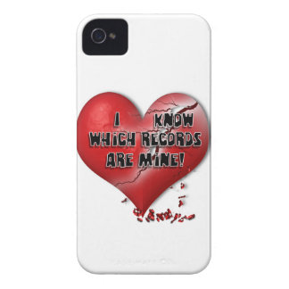 I know which records are mine! iPhone 4 cases