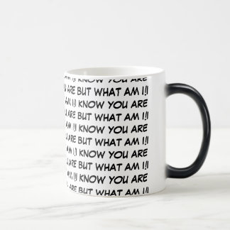 I KNOW YOU ARE BUT WHAT AM I! MUGS