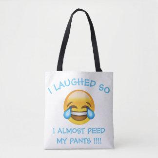 I Laughed So Hard Almost Peed My Pants Emoji Tote
