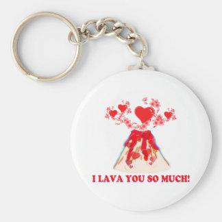 I Lava You Basic Round Button Key Ring