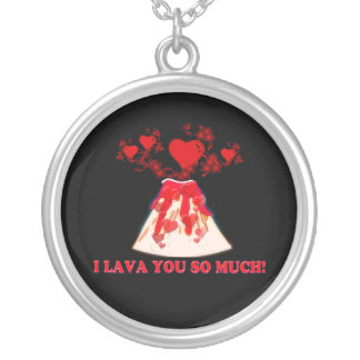 I Lava You Silver Plated Necklace