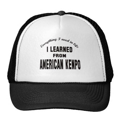 I Learned From American Kenpo. Mesh Hat