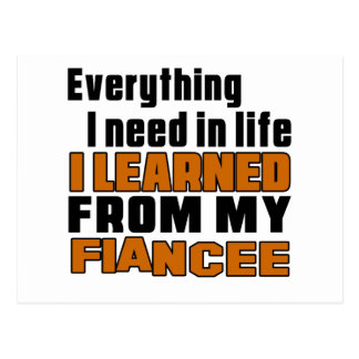 I Learned From Fiancee Postcard