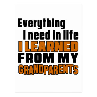 I Learned From grandparents Postcard