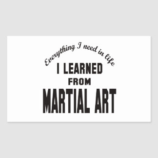 I Learned From Martial Art. Stickers
