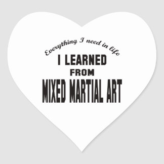 I Learned From Mixed Martial Arts. Stickers