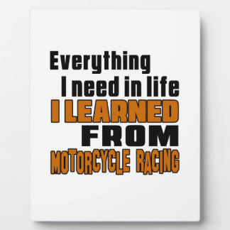 I learned From Motorcycle Racing      Motocross Display Plaques