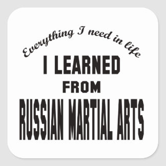 I Learned From Russian Martial Arts Sticker