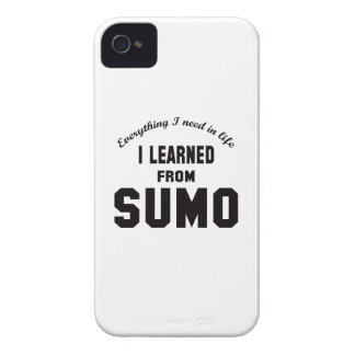 I Learned From Sumo. iPhone 4 Cover