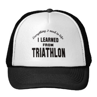 I Learned From Triathlon. Hats
