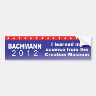 I learned my science from the Creation Museum Bumper Sticker
