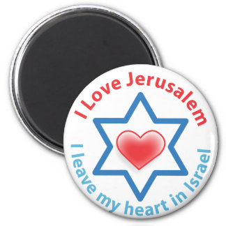 I Leave my heart in Israel - I love Jerusalem 6 Cm Round Magnet