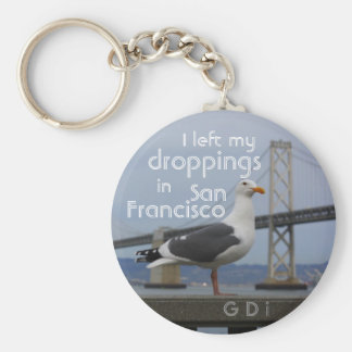 I left my droppings in San Francisco Basic Round Button Key Ring