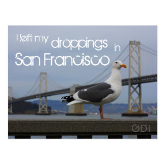 I left my droppings in San Francisco Postcard